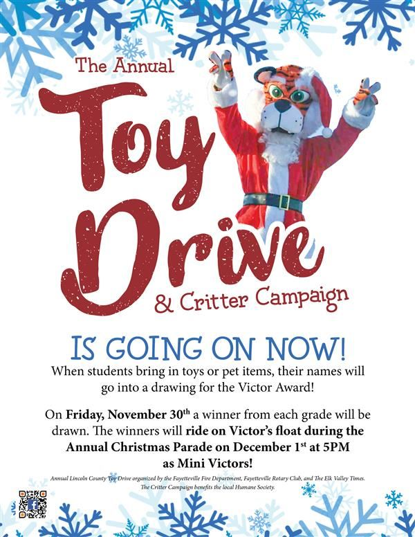 Toy Drive and Critter Campaign